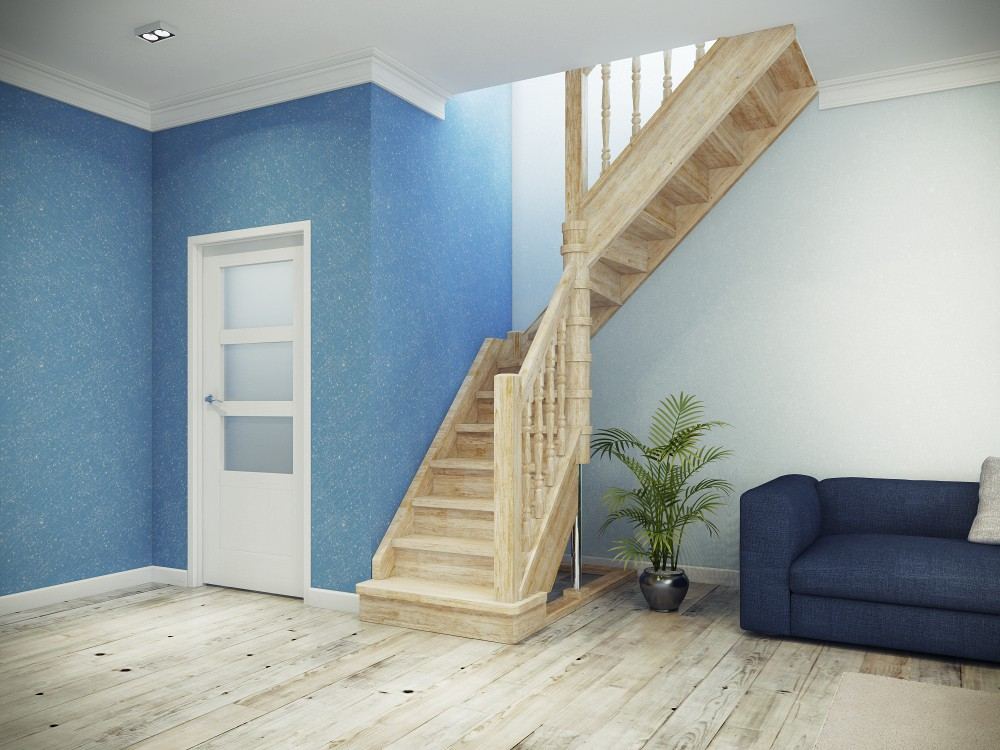 лестница на мансарду с дверью фото того